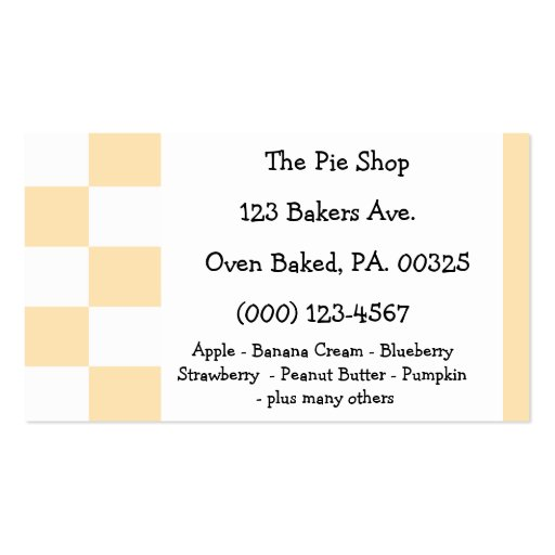 Peach Pie Colors Business Card Template