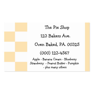 Peach Pie Colors Business Card Template