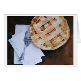 """"""" PEACH PIE FOR TWO """" CARD"""