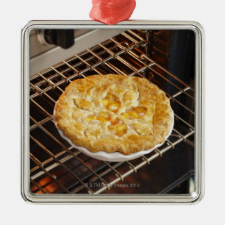 Peach Pie Metal Ornament