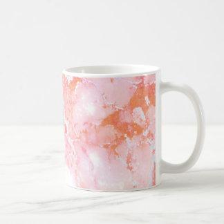 Peach Pink Cloudy Marble Stone Coffee Mug
