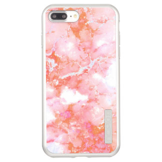 Peach Pink Cloudy Marble Stone Incipio DualPro Shine iPhone 8 Plus/7 Plus Case