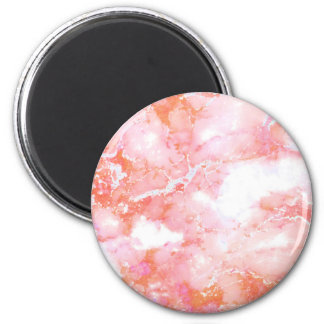 Peach Pink Cloudy Marble Stone Magnet