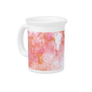 Peach Pink Cloudy Marble Stone Pitcher