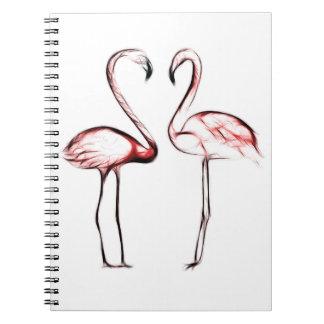 Peach Pink Flamingos Flamingo Tropical Notebooks