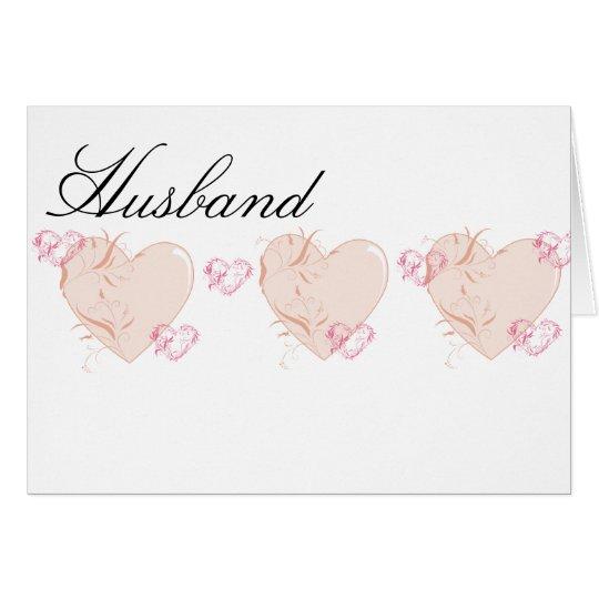 Peach & Pink Hearts Card
