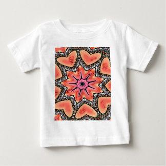 Peach Pink Kaleidoscope Funky Pattern Baby T-Shirt