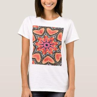 Peach Pink Kaleidoscope Funky Pattern T-Shirt