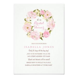 Peach Pink Spring Rose Bridal Shower Invitation