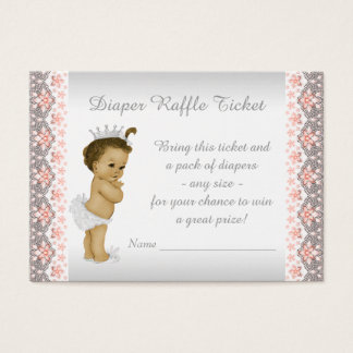 Peach Princess Diaper Raffle Ticket