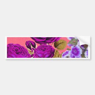 Peach Purple Abstract Rose Garden Bumper Sticker