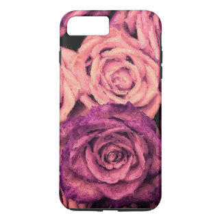 Peach Purple Abstract Roses iPhone 7 Plus Case