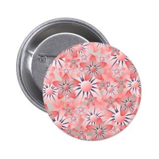 Peach Purple Cream Flower Button