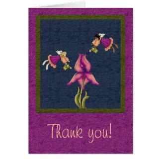 Peach & Purple Iris Note Card