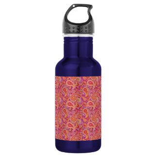 Peach & Purple Paisley 532 Ml Water Bottle