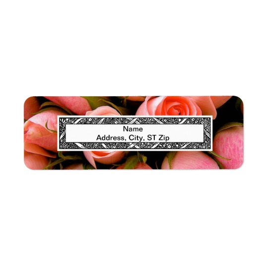 PEACH ROSE EETURN LABELS TEMPLATE