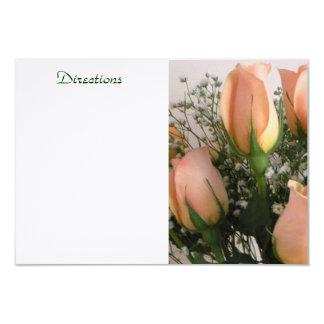 Peach Rose Enclosure Card 9 Cm X 13 Cm Invitation Card