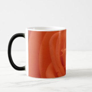 Peach Rose Floral Image Morphing Mug