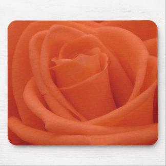 Peach Rose Floral Image Mousepad