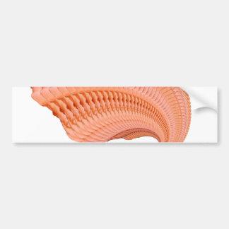 Peach Rose Fractal Car Bumper Sticker