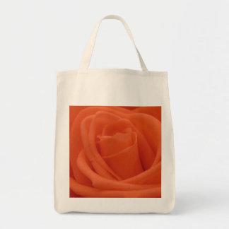 Peach Rose Image - Organic Grocery Tote Bag