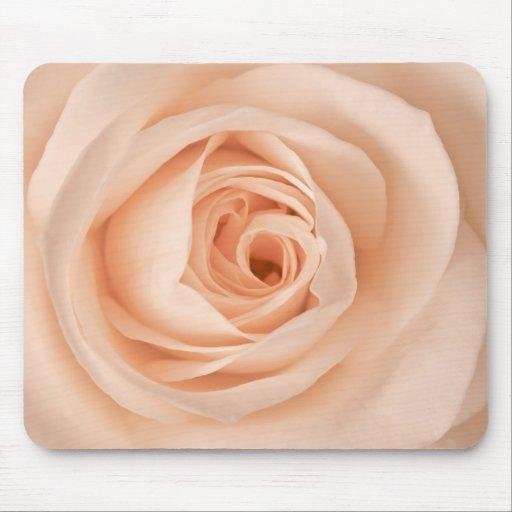 Peach rose mouse mat