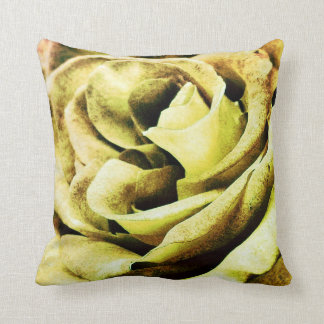 """Peach rose ""rose petal pillow yellow"