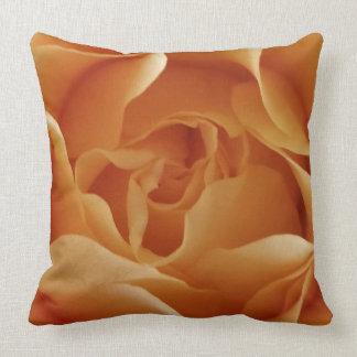 Peach Rose Throw PIllow