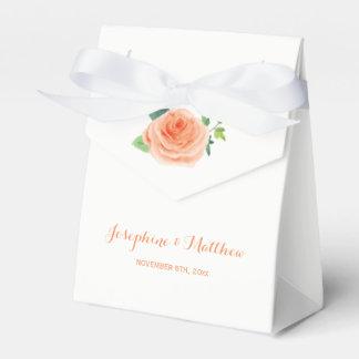 Peach Rose Wedding Favour Box