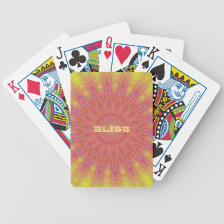 Peach Rose Yellow 'Bliss' Mandela Pattern Bicycle Playing Cards
