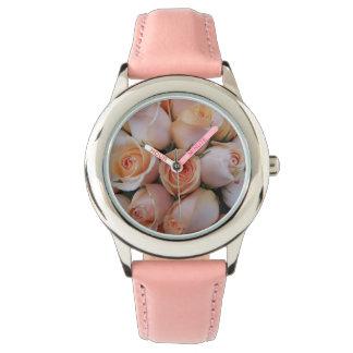 Peach Roses Wrist Watches