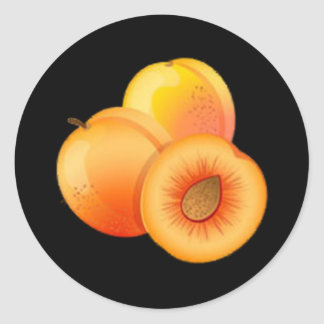 Peach Round Stickers