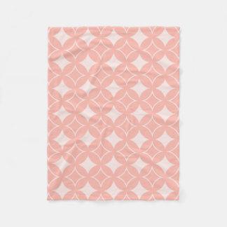 Peach shippo fleece blanket