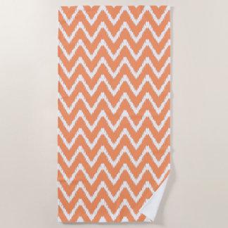 Peach Southern Cottage Chevrons Beach Towel