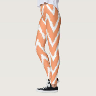 Peach Southern Cottage Chevrons Leggings