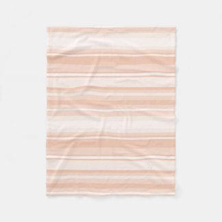 Peach stripes fleece blanket