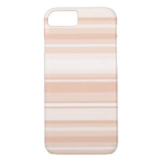 Peach stripes iPhone 8/7 case