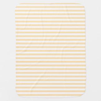 Peach Stripes Receiving Blanket