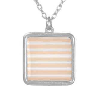 Peach Stripes Silver Plated Necklace