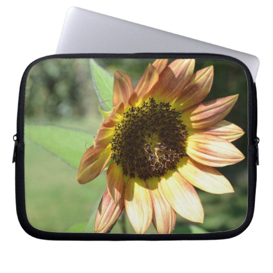 Peach Sunflower Laptop Sleeve