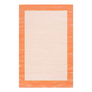 """Peach Sunset Water"" Fine Lined Stationery"