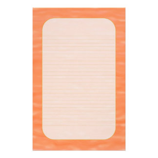 """""""Peach Sunset Waters"""" Fine Lined Stationery"""