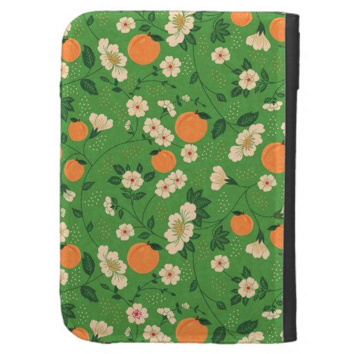 Peach Tree on Green Background Kindle Keyboard Covers