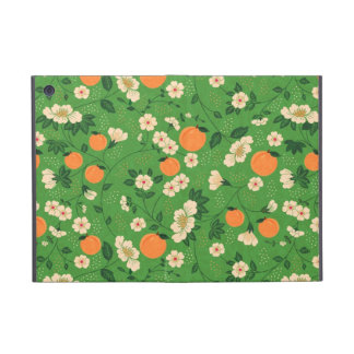 Peach Tree on Green Background Cases For iPad Mini