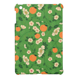Peach Tree on Green Background Cover For The iPad Mini
