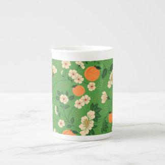 Peach Tree on Green Background Bone China Mug