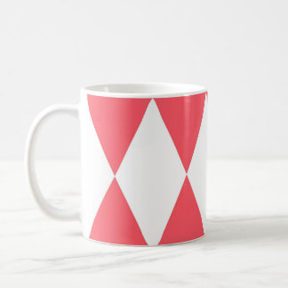 Peach Triangles Retro Pattern Coffee Mug