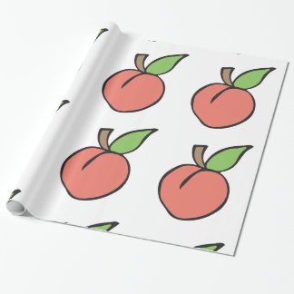 Peach w/ green leaf Pattern