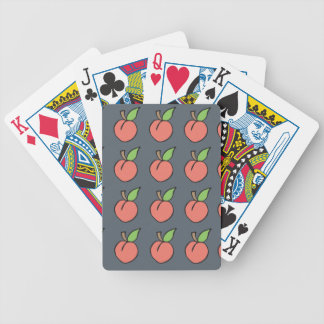 Peach w/ green leaf Pattern Bicycle Playing Cards