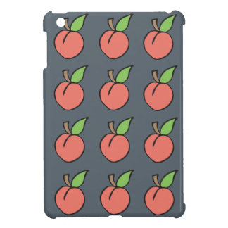 Peach w/ green leaf Pattern iPad Mini Covers